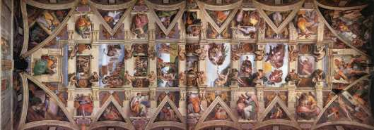 The Sistine Chapel ceiling - a great comeback from Michelangelo